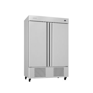 Bottom mounted reach-in refrigerators & freezers