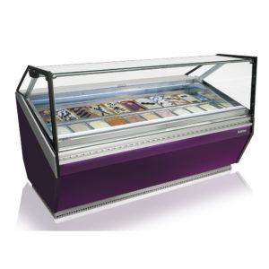 Gelato display cases