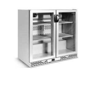 narrow-back-bar-coolers-stainless-steel-glass-doors-IMD-ERV25II