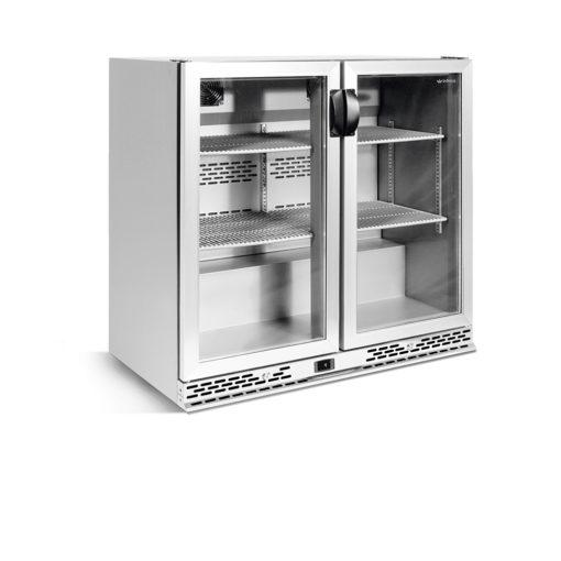 narrow-back-bar-coolers-stainless-steel-glass-doors-IMD-ERV25II